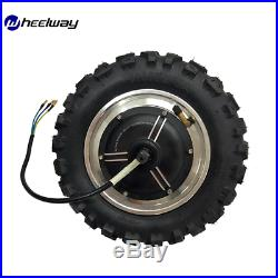11 inch 30-65KM W Double Drive Hub Motor and Controller Electric Bike KitScooter