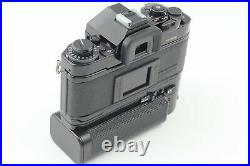 Almost MINT Canon A-1 Black SLR Film Camera with Motor Drive MA From JAPAN