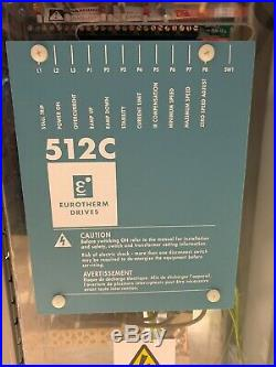 Eurotherm Drives 512c 3 Phase Electric Motor Speed Controller With Case