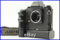 Excellent+5 Canon New F-1 AE Finder + AE Motor Drive FN Grid Screen From Japan