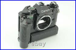 MINT Canon AE-1 Program SLR Camera with NEW FD 50mm f1.4 MOTOR DRIVE From JAPAN