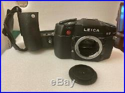 NM Leica R8 35mm SLR Film Camera + Motor Grip, Battery & Charger FILM TESTED