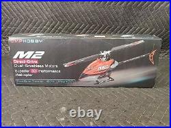 OMPHOBBY M2 3CH 3D Flybarless Dual Brushless Motor Direct-Drive RC Helicopter