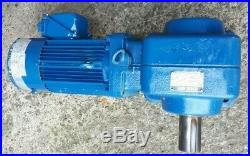 Sumitomo 1.5kW 3-Phase Electric Motor Brake Gearbox Gear Drive 12.5RPM
